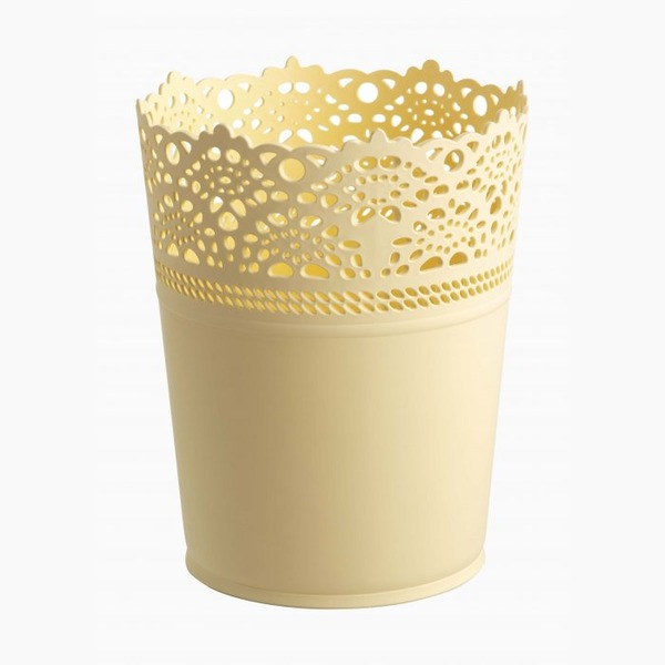 Цветочный горшок (1,2 л) желтый  120х150 мм *48 купить оптом и в розницу