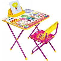 Набор детской мебели ″Фиксики″ складной, с пеналом, мягкий стул Ф1З купить оптом и в розницу