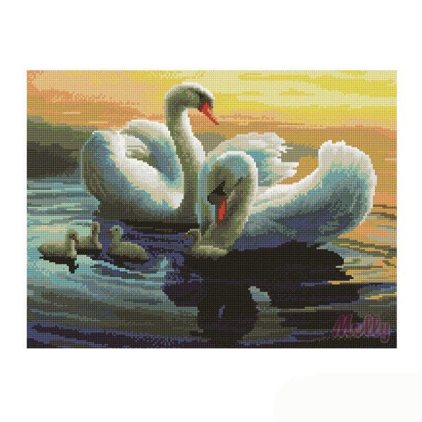 Набор ДТ Картина мозаикой Лебединая идилия GZ257 купить оптом и в розницу
