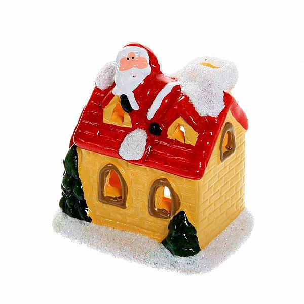 Фигурка с подсветкой ″Домик с Дед Морозом на крыше″ 10,5*9см купить оптом и в розницу