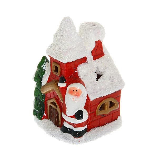 Фигурка с подсветкой ″Заснеженный Домик Деда Мороза″ 12*8см купить оптом и в розницу