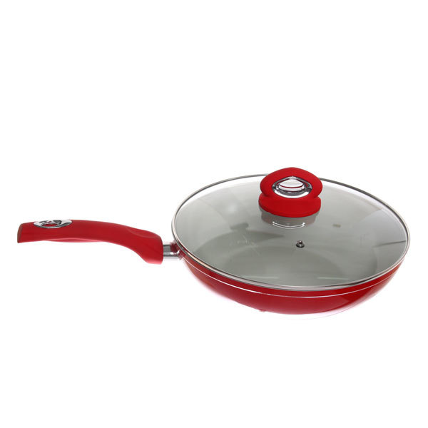 Набор посуды 4 предмета (кастрюля 2,5л 20см с крышкой, сковорода 28см с керамическим покрытием с крышкой) купить оптом и в розницу