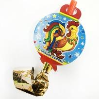 Язычок карнавальный ″С новым годом!″, Сказочный петушок купить оптом и в розницу