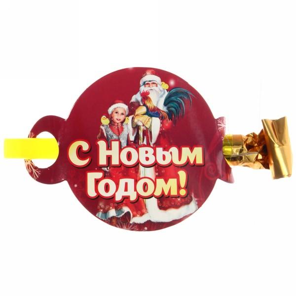 Язычок карнавальный ″С Новым годом!″, Дед Мороз и внучка купить оптом и в розницу