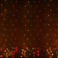 Сетка 2,2 х 1,8 м, 320 ламп мини, Мультицвет, 8 режимов, прозр.пров. купить оптом и в розницу