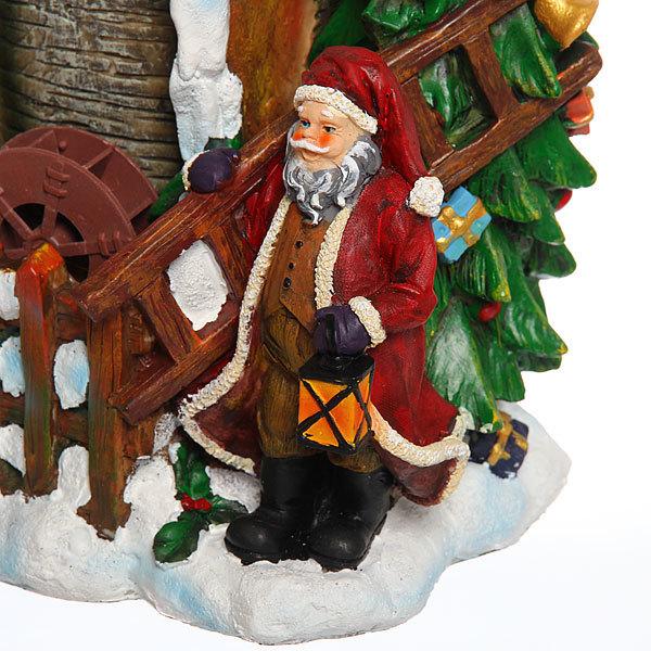 Фонтан ″Дед Мороз в лесу″ 18,5*15,4*25см купить оптом и в розницу