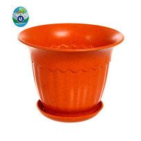 Горшок для цветов ЭКО Василек″ 12*16см SHY-4С оранжевый купить оптом и в розницу