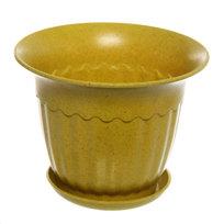 Горшок для цветов ЭКО Василек″ 12*16см SHY-4С желтый купить оптом и в розницу