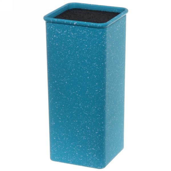 Подставка для ножей ″Мрамор″ с черным наполнителем h22,5см синий купить оптом и в розницу
