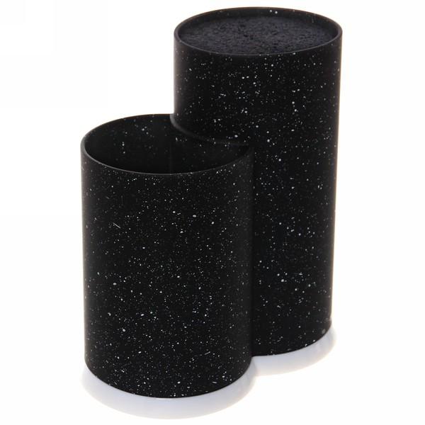 Подставка для ножей и кухонных принадлежностей ″Мрамор″ с черным наполнителем h22,5см черная купить оптом и в розницу