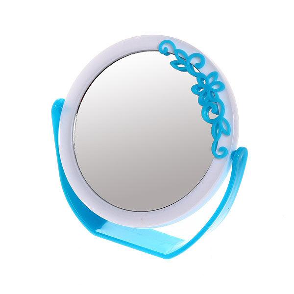 Зеркало настольное на подставке ″Кружево″ цвет в ассорименте, двухстороннее, с увеличением d-15см купить оптом и в розницу
