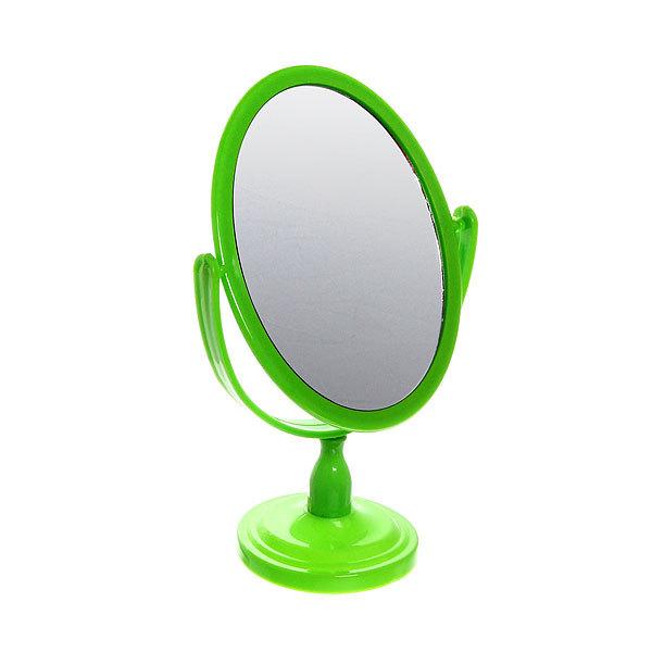 Зеркало настольное на ножке ″Эстетика - Овал″ цвет в ассортименте, двухстороннее 23,5*16,5*12,5см купить оптом и в розницу
