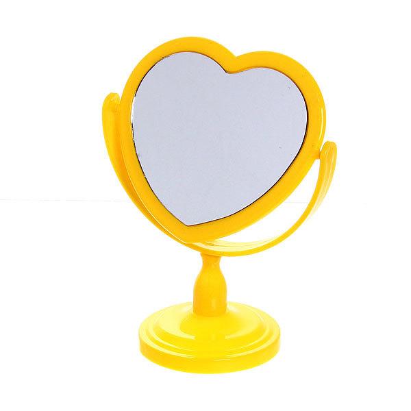 Зеркало настольное на ножке ″Эстетика - Сердце″ цвет в ассортименте, двухстороннее19*13*12 купить оптом и в розницу