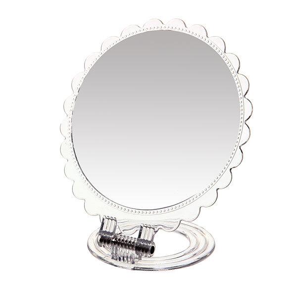 Зеркало настольное в пластиковой оправе ″Лепестки″ круг, подвесное d-21см купить оптом и в розницу