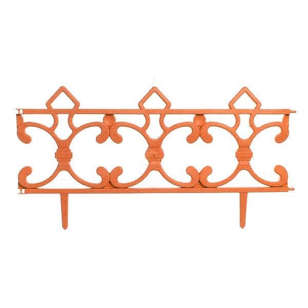 Забор декоративный ″Ковка″ оранжевый 6 шт 3,5м*0,225м купить оптом и в розницу