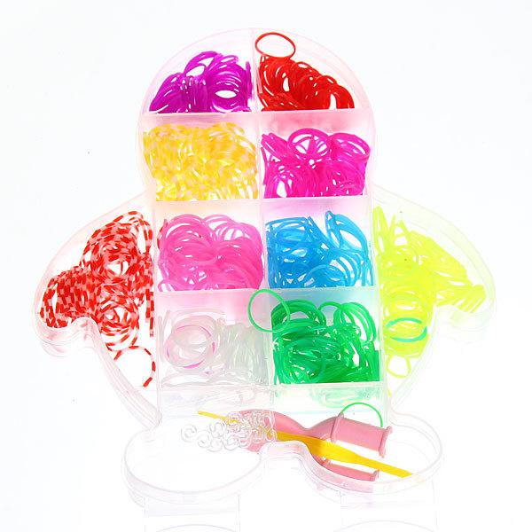 Набор резинок для плетения браслетов 450штук 9 цветов Пингвин купить оптом и в розницу