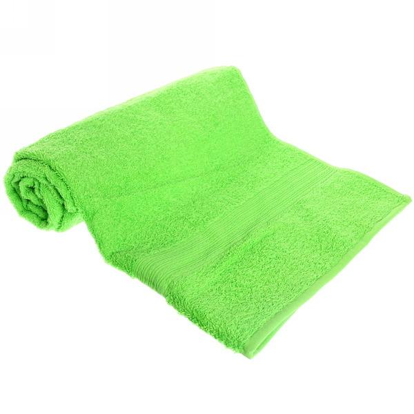 Махровое полотенце 70*140см салатовое ЭК140 Д01 купить оптом и в розницу