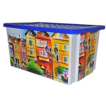 Ящик дляхранения Optima Город 57л*5 купить оптом и в розницу