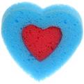 Губка для тела банная поролоновая ″Сердце″ 12*12 658-1 купить оптом и в розницу