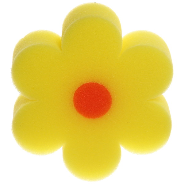 Губка для тела банная поролоновая ″Цветок″ классическая, фигурная d-11,5см купить оптом и в розницу