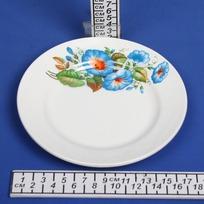 Тарелка керамическая 17,5 см мелкая Синий цветок 057 купить оптом и в розницу