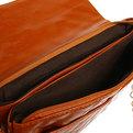 Сумка через плечо женская с длинным ремешком ″Ультра-Мода″ на цепочке 4 кармана, коричнев цвет 25*16*4 020-1 купить оптом и в розницу