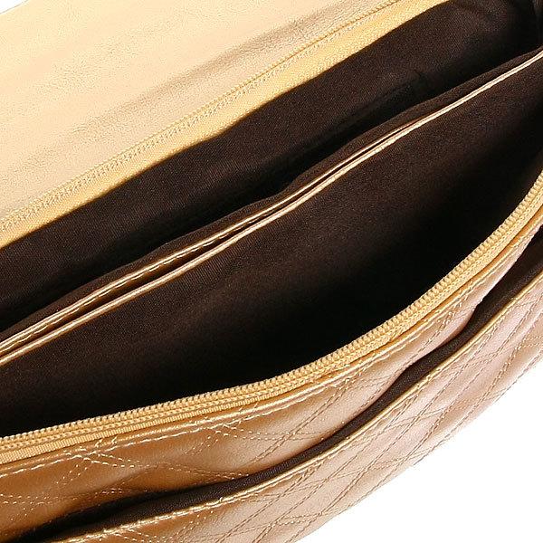 Сумка женская конверт ″Ультра-Мода″ на цепочке 4 кармана, золотой цвет 25*16*4 купить оптом и в розницу