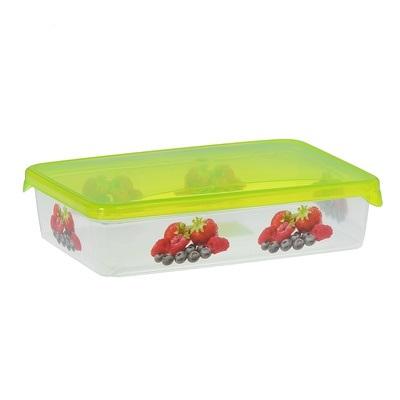 Емкость для продуктов Браво Ягоды прямоугольная 1,35 л *40 купить оптом и в розницу