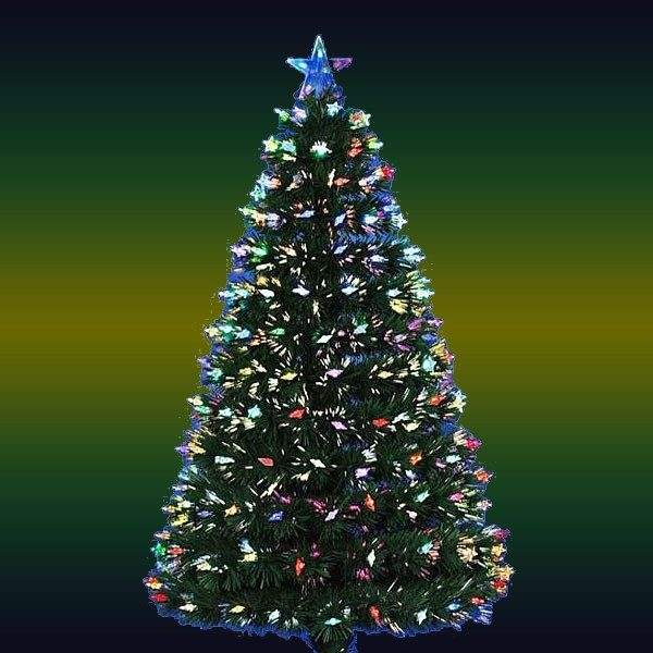 Елка светодиодная 60 см оптоволокно + 60 RGB LED Звездочки LCXWXG1-2 купить оптом и в розницу