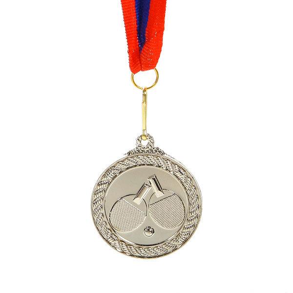 Медаль ″ Настольный теннис ″- 2 место (4,5см) купить оптом и в розницу