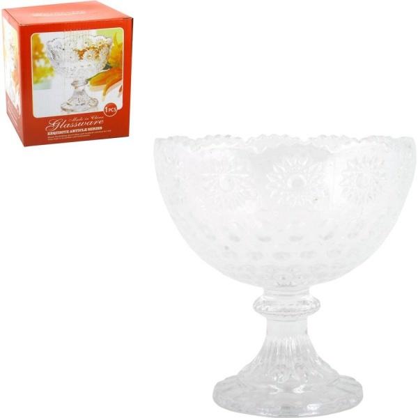 Конфетница стеклянная, 12*13см. (1/24) купить оптом и в розницу