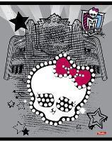 """Тетрадь 24л.кл.скрепка HATBER, """"Школа Монстров (Monster High)"""", блестки купить оптом и в розницу"""