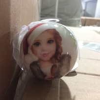 Ёлочный шар пластик с бантом 6 см ″С новым счастьем!″ Снегурочка купить оптом и в розницу