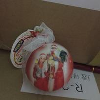 Ёлочный шар пластик с бантом 6 см ″С Новым годом!″ Дед Мороз и внучка купить оптом и в розницу