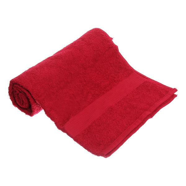 Махровое полотенце 70*140см бордовое ЭК140 Д01 купить оптом и в розницу