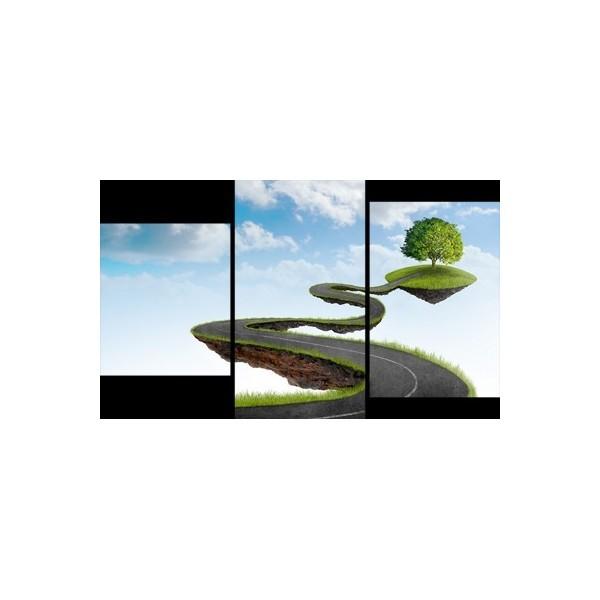 Картина модульная триптих 55*96 Дорога диз.1 98-01 купить оптом и в розницу