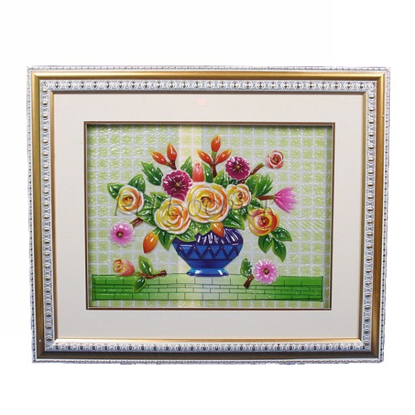 Картина объемная 51*61см ″Цветы″ F-2 купить оптом и в розницу