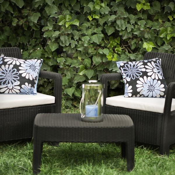 Набор мебели (2 стула, стол) TARIFA BALCONY коричневый с подушками купить оптом и в розницу