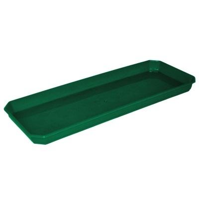 Поддон для балконного ящика 40 см темно-зеленый  *20 купить оптом и в розницу