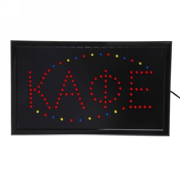 Световое табло LED 55*33см ″Кафе″ 220В 3цвета купить оптом и в розницу