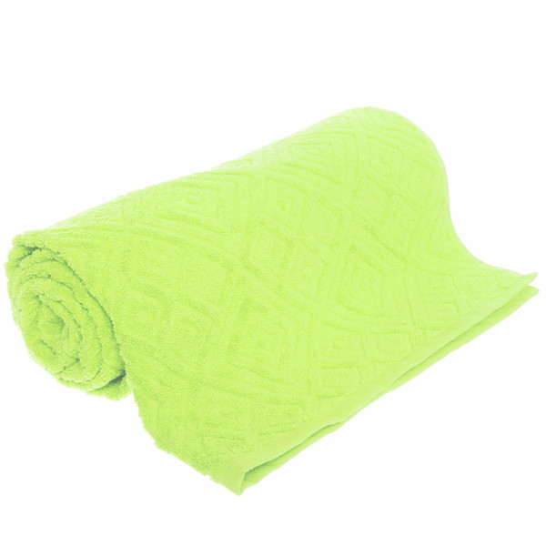 Махровое полотенце 50*100см яблочно-зеленое жаккард пляжное ЖК100-2-005-008 купить оптом и в розницу