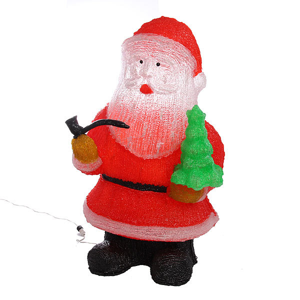 Фигура светодиодная 35см ″Дед мороз″ купить оптом и в розницу