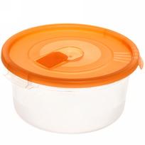 Контейнер пластиковый пищевой ″Смайл″ 0,8л круглый с клапаном *72 (ПБ) 52100 купить оптом и в розницу