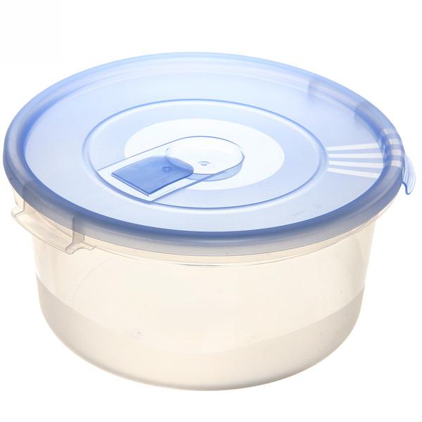 Контейнер пластиковый пищевой ″Смайл″ 1,6л круглый с клапаном *30 купить оптом и в розницу