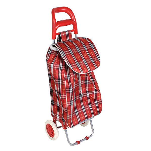 Тележка хозяйственная с сумкой (96*36*33см, колеса 16см,грузоподъемность до 30 кг) клетка купить оптом и в розницу