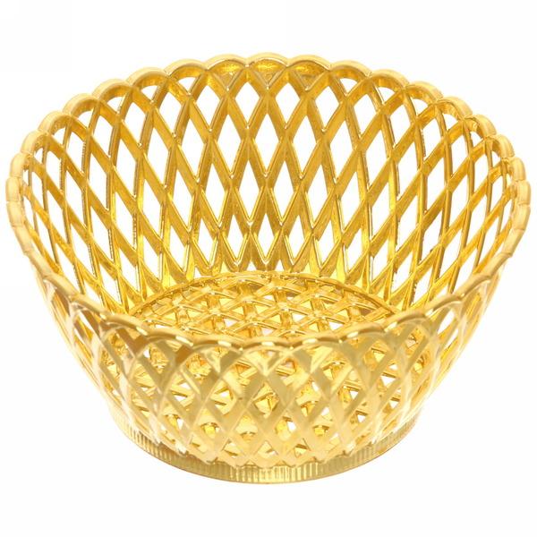Сухарница пластиковая ″Плетенка″ 15*7см золото купить оптом и в розницу