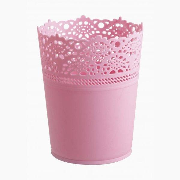Цветочный горшок (1,2 л) розовый  120х150 мм *48 купить оптом и в розницу