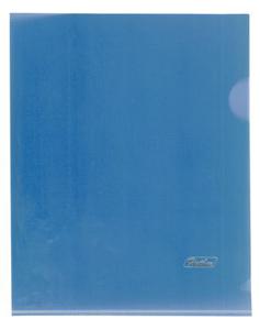 Папка-уголок  180мк  А5 Hatber пластик. cиняя купить оптом и в розницу