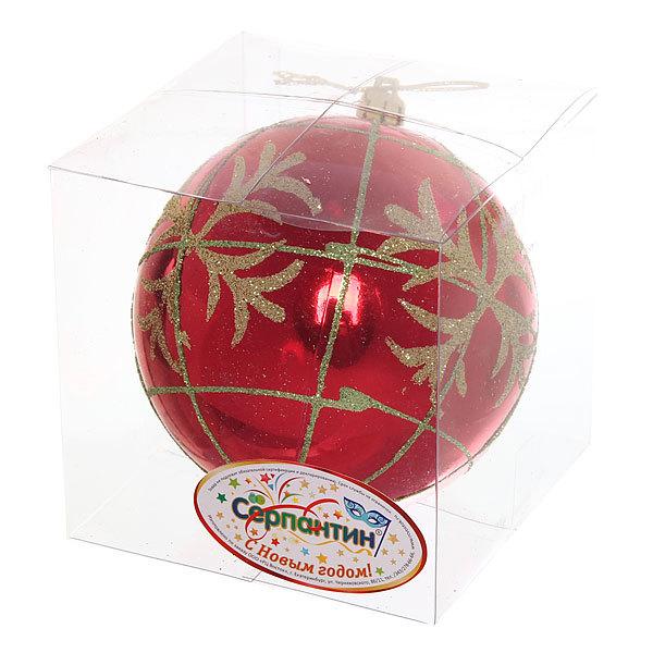 Новогодний шар ″Золотая снежинка″ 10см купить оптом и в розницу