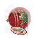 Новогодний шар ″Рождественский орнамент″ 10см купить оптом и в розницу